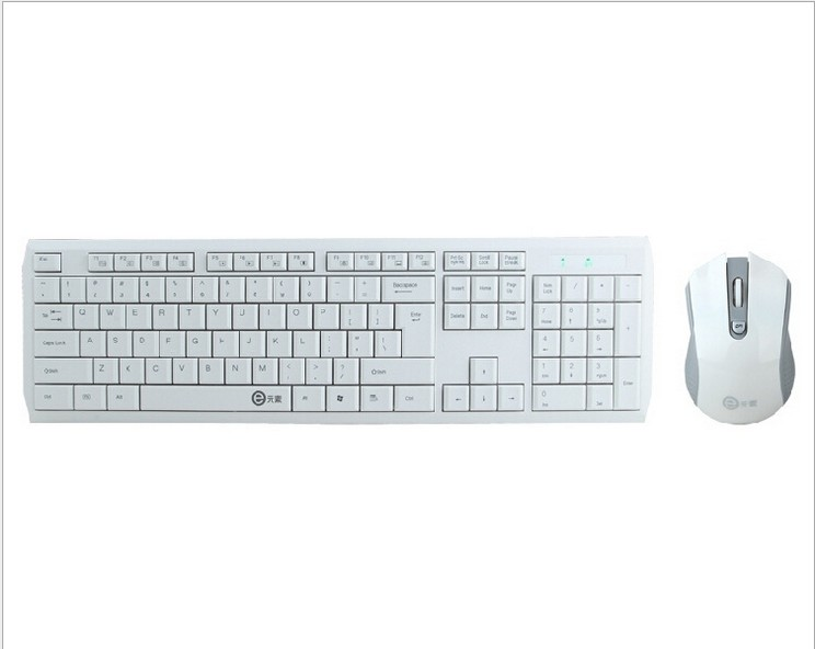 White Ultra Thin Wireless Keyboard and Mouse Combo Sets Wireless Keyboard for hisense smart tv Desktop Laptop PC