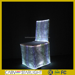 Luminous wedding chair cover light up fancy chair cover for event decoration
