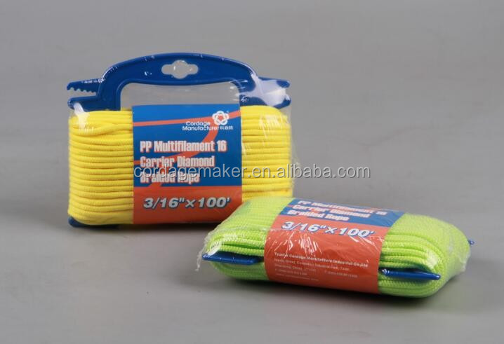 Diamond Braid Rope/Nylon/Polyester/PP Rope/Assorted colors