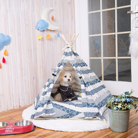 Mini Indian Tent Pet House Fabric Cat House