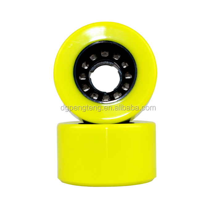 66*38mm high rebound roller quad skate wheel PU