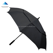 black double layers umbrella promotional gift advertising golf umbrella with logo printing