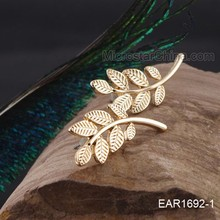China Wholesale Leaf Shape Earing Stud Alloy Ear Jackets
