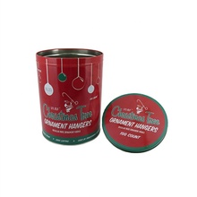 Christmas Gift Round Tin Can Storage Box Tinplate Metal Container
