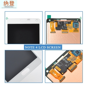 Lcd Digitizer Assembly For Samsung Note 4,Grade A+ For N910F Lcd Glass Complete,For Samsung Note 4 Full Glass