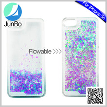 New Product Fashion Smartphone Accessory High-end Flash Powder Rigid PC Back Cell Phone Case For iphone5s