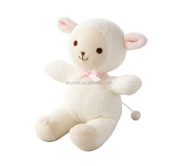 Plush Pull String Musical Toy Lamb/Sound Toys for Baby/Stuffed Toy Sheep with Muisc Box