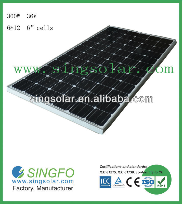 300watt poly photovolatic solar panel for solar project