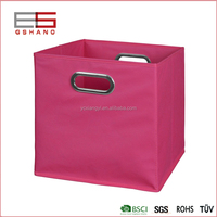 Most Cheapest Factory Polyester Food Sundries Storage Cube with Handle