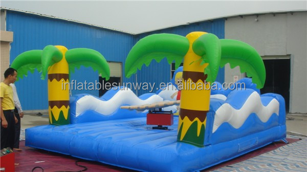 Fresh Summer Beach Inflatable Mechanical Surfboard / Surfing Sport Game For Adults