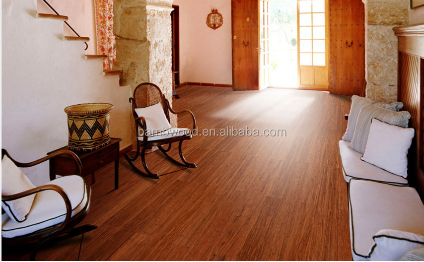 Hot sale and popular tiger strand woven bamboo flooring