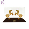 24K gold plated Double Horse with Acrylic Box