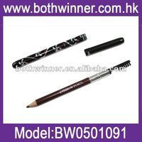Eyebrow pencil with eyelash brush