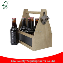 Alibaba Basket Handcrafted Artisan Wood Six Pack Carrier