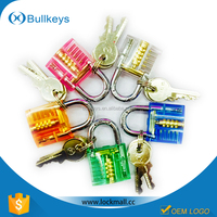 BULLKEYS Colorful Transparent Mini Crystal Padlock Packed with Clear Box valentine wholesale gift CP-008