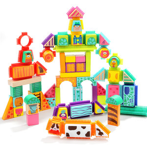 Top bright fun wooden children Bristle Farm wooden Blocks sets toy 120380