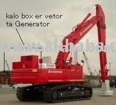 Lifting magnet hydraulic excavator