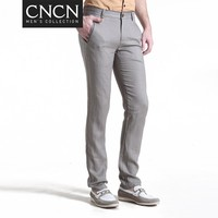 CNCN brand slim fit Cotton and linen man leisure trousers