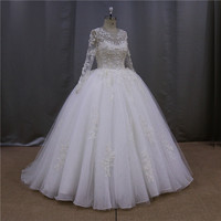 Classic sexy slim empire waist pink puffy wedding dresses