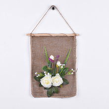 Taoye Fake White Rose Flower Pictures Room Wall Art Home Decoration Hanging Painting
