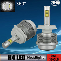 2016 NEW products Ultra bright led headlights H4 p43t 3600LM CAR HEADLIGHTS