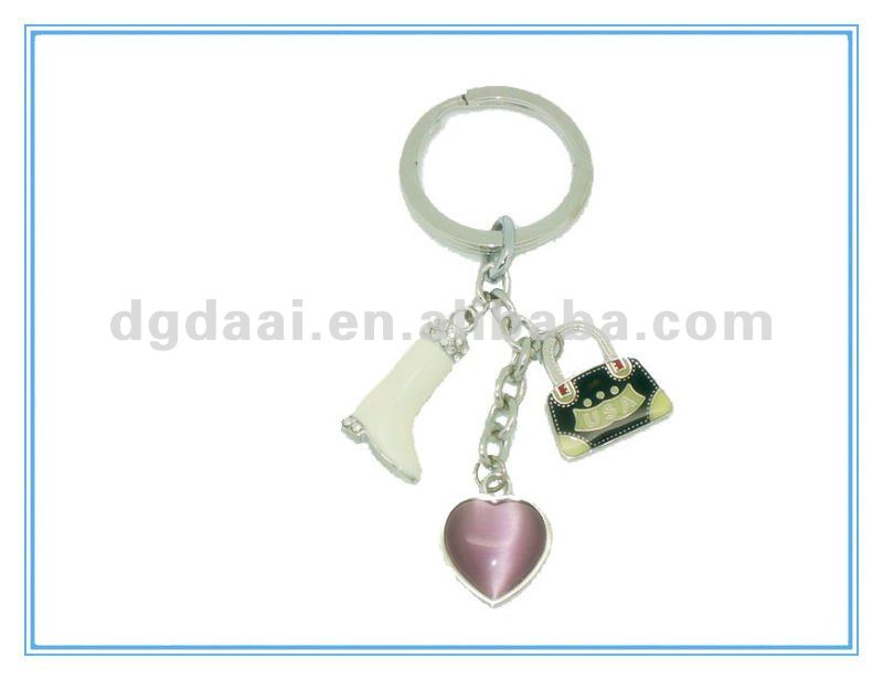high heels shape key ring with bag