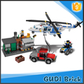 613 PCS plastic police set DIY construction building blocks toy