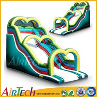 Airtech inflatables water slide Inflatable water slip and slide chongqi pvc water slide for adults and kids