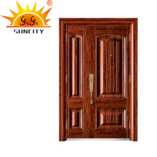 SC-S158 Latest Exterior metal doors residential,flat safety door designs