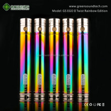 Vaporizer Pen With 510/ego Thread Best Selling E Cigarette Rainbow battery VV function ego ecig 2200 mah VV battery