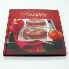 Print customized cooking shaped card board book printing cardboard food book with die-cut