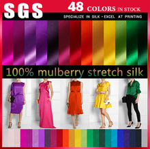 Silk Fabric Wholesale in High quality and 60 Colors in stock