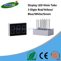 7 Years Warrantee Ultra Bright 3 Digit Display LED Nixie Tube 7 Segment Common Cathode / Anode