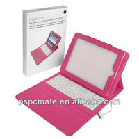 Classic Design For iPad mini Folio Leather Case Bluetooth Keyboard Flip Leather Case Bluetooth Keyboard For iPad mini