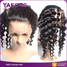 High glossy long lasting shedding free virgin russian 360 lace front wigs human hair