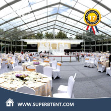 clear roof garden tent for wedding party