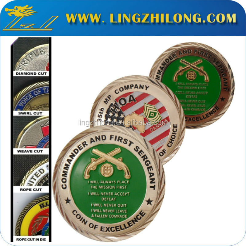 Metal Material and Souvenir,souvenir Use challenge coin with diamond edge