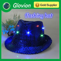 New arrival light up led hats flashing led cap funny party favor led hat