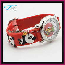 child 3D band cartoon panda face fashion cool 1-3 ATM waterproof custom-made watch case