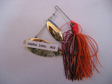 Red head white body lead Spinner Bait