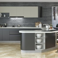 Factory New Design Modular Lacquer Custom Kitchen Remodeling
