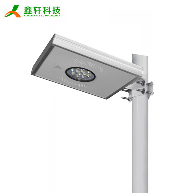 Integrated 12w aluminum housing all in one solar led street light