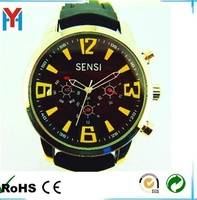 <Manufacturer> Promotional alloy case silicone band watches men