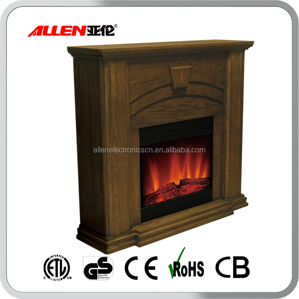 ETL approved decorative flame electric fireplace surround