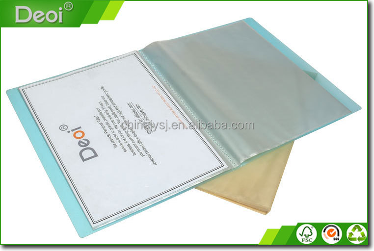 OEM polypropylene products factory custom display book