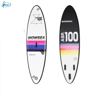 "Fissot inflatable stand-up paddle board 10'6"" with double layer drop stitch"