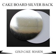 GOLD CAKE BOARD WITH WITHE BACK OR GREY BACK