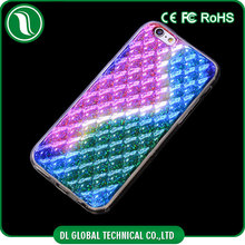 Factory 3D color change IMD tpu phone case diamond pattern mobile housing for iphone 5
