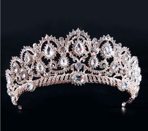 Hot sale European and American wedding Tiara with crystal bridal Crown for girls bridal jewelry