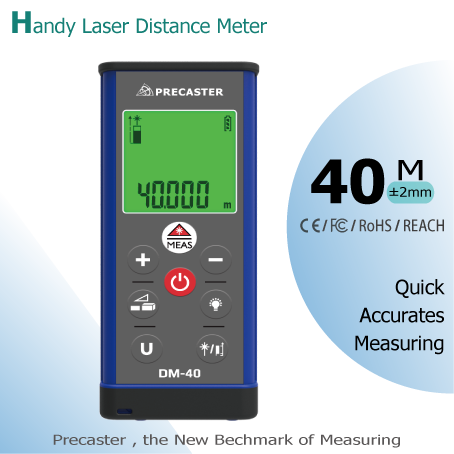 modern looks laser rangefinder home decorating range up 40m made in Taiwan products , area volume height, lcd screen display